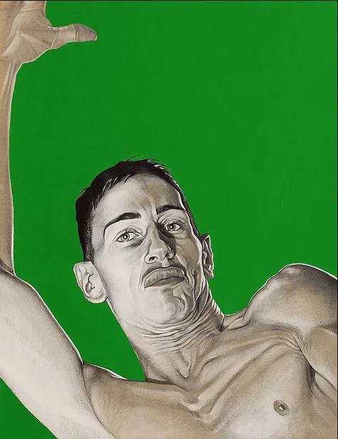 Incrust Verte N°4, mine de plomb, graphite et aérosole sur papier, 50×85